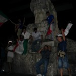 Festeggiamenti sulla Rambla per i mondiali 2006